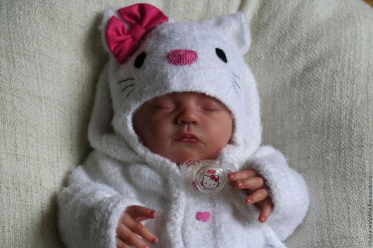 """Для новорожденных, ручной работы. Ярмарка Мастеров - ручная работа. Купить Комплект """"Малышка Kitty"""".. Handmade. Для новорожденных, кошечка"""
