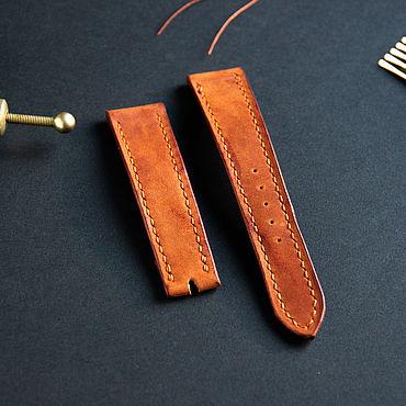 Украшения ручной работы. Ярмарка Мастеров - ручная работа Ремешок для часов из натуральной кожи. Handmade.