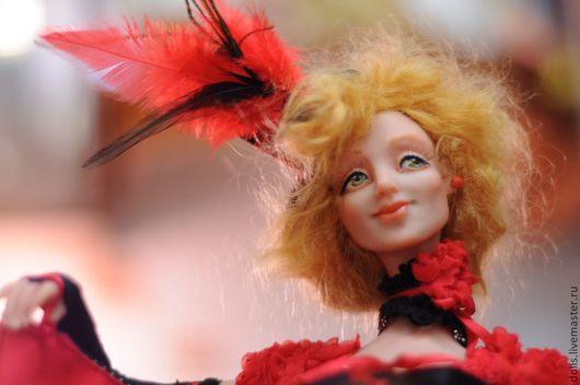 Коллекционные куклы ручной работы. Ярмарка Мастеров - ручная работа. Купить Канкан. Handmade. Ярко-красный, ЛивингДолл