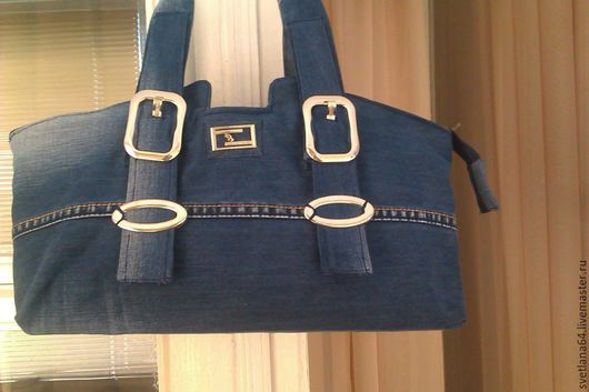 Женские сумки ручной работы. Ярмарка Мастеров - ручная работа. Купить Сумка джинсовая  Лисичка. Handmade. Тёмно-синий