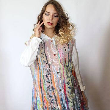 Clothing handmade. Livemaster - original item Vest felted Melody (large size). Handmade.