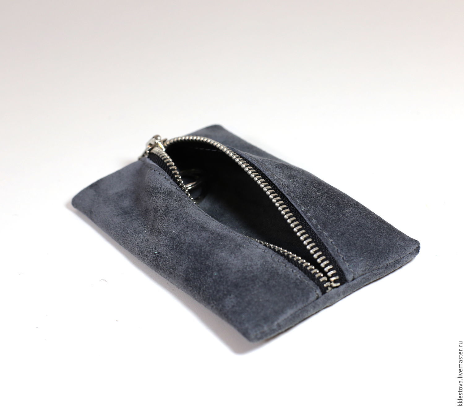 Wallets & Business Card Holders handmade. Livemaster - handmade. Buy Grey suede key Holder-suede key case.