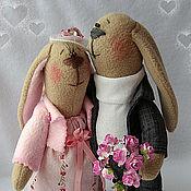 Куклы и игрушки ручной работы. Ярмарка Мастеров - ручная работа Влюбленные зайчики. Handmade.