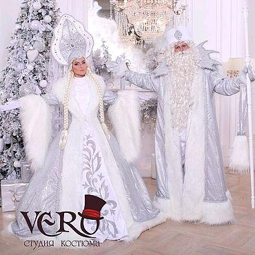 Одежда ручной работы. Ярмарка Мастеров - ручная работа Костюм Деда мороза и снегурочки белоснежные. Handmade.