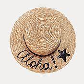 Hats1 handmade. Livemaster - original item Straw boater hat. Handmade.