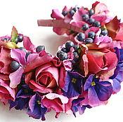 Свадебный салон ручной работы. Ярмарка Мастеров - ручная работа Ободки с цветами и ягодами. Handmade.