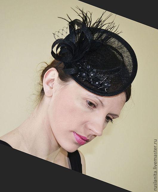 """Шляпы ручной работы. Ярмарка Мастеров - ручная работа. Купить Шляпка 1 """"Классика"""". Handmade. Шляпка свадебная, шляпка для торжества"""