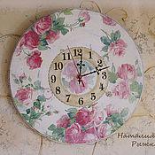 Для дома и интерьера ручной работы. Ярмарка Мастеров - ручная работа часы настенные Нежность роз. Handmade.