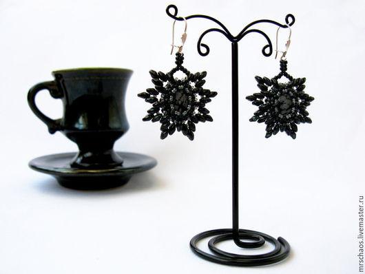 Серьги ручной работы. Ярмарка Мастеров - ручная работа. Купить Black coffee.. Handmade. Черный, классический стиль, элегантность