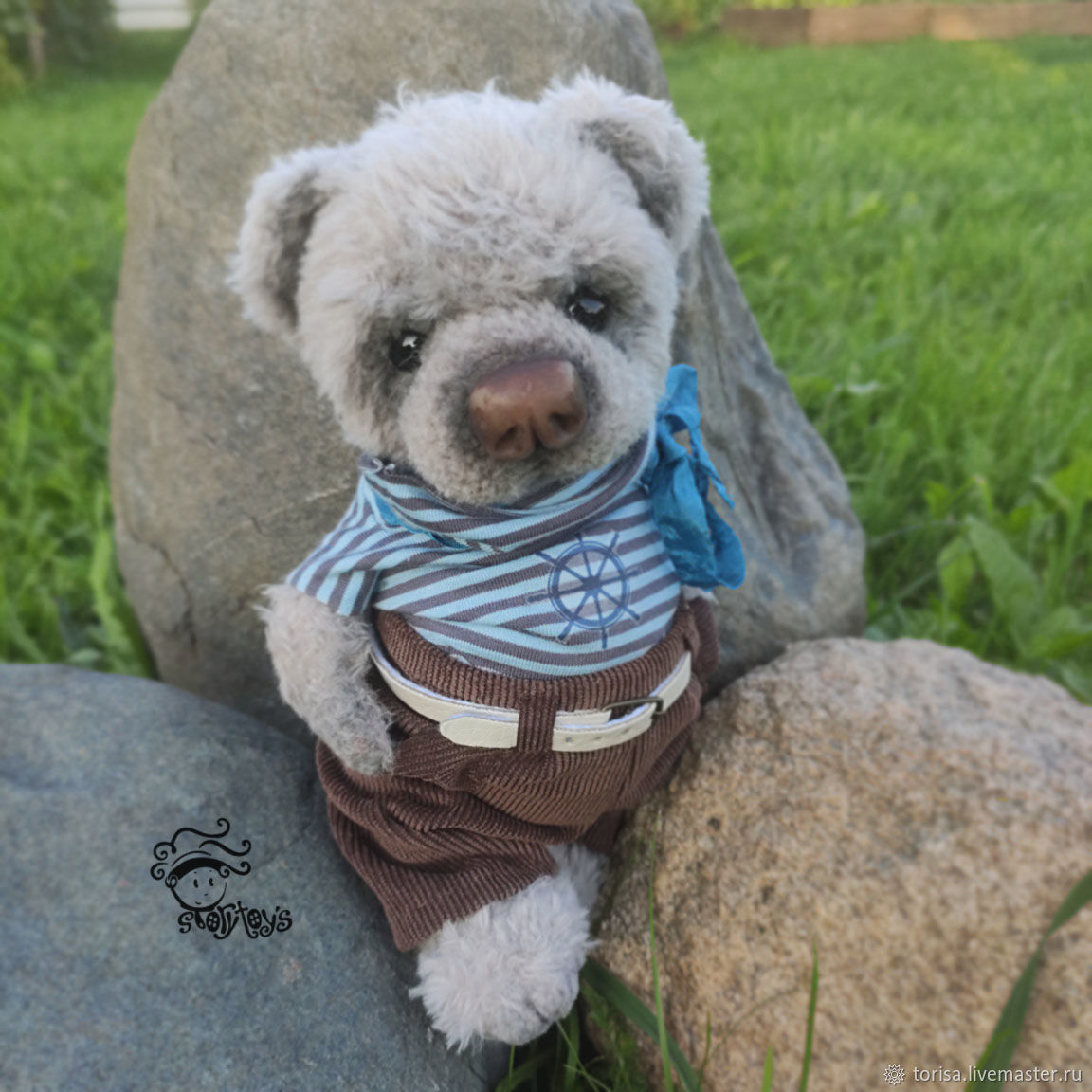 Stuffed toys, knitted Teddy: Micah 20 cm, Stuffed Toys, Moscow,  Фото №1