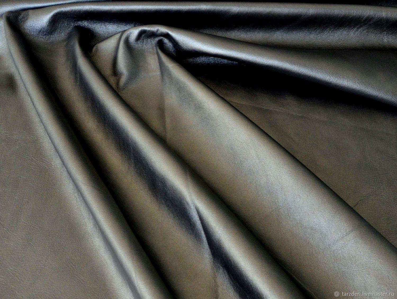 Genuine leather Dark Silver (warm shade) 0,55 mm, Leather, Ankara,  Фото №1