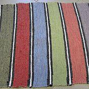 Для дома и интерьера ручной работы. Ярмарка Мастеров - ручная работа Половик льняной тканый. Handmade.