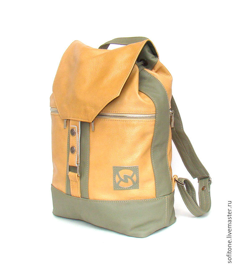 Дизайнерский рюкзак (бежевый-оливковый) рюкзак vans недорого