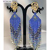 Украшения handmade. Livemaster - original item Beautiful long stud earrings-clips
