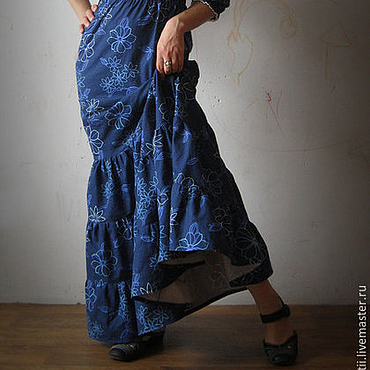 Одежда ручной работы. Ярмарка Мастеров - ручная работа Длинное платье Ноты модерна. Handmade.