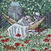 Картины и панно ручной работы. Ярмарка Мастеров - ручная работа Летнее наслаждение.Вышивка отличного настроения. Handmade.