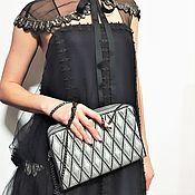 Сумки и аксессуары handmade. Livemaster - original item clutches: Clutch Helga silver, evening silver handbag. Handmade.