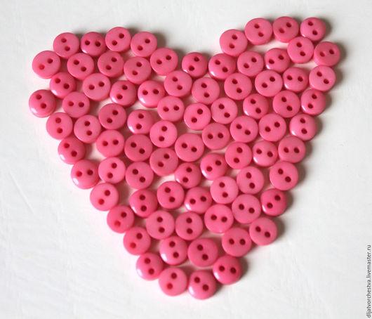 Шитье ручной работы. Ярмарка Мастеров - ручная работа. Купить Пуговицы 6 мм розовые. Handmade. Розовый, пуговицы пластмасса
