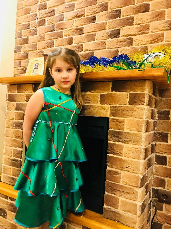 Новогодний костюм «Ёлочка», для девочки, разм. 134, Костюмы, Дубна, Фото №1