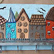 Для дома и интерьера handmade. Livemaster - original item The housekeeper Birds in the City. The housekeeper wall. decor polymer clay.. Handmade.
