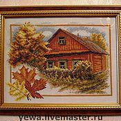 Картины и панно ручной работы. Ярмарка Мастеров - ручная работа Осень в деревне. Handmade.
