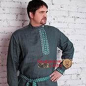 Русский стиль handmade. Livemaster - original item Linen blouse