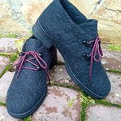 """Обувь ручной работы. Ярмарка Мастеров - ручная работа Туфельки из шерсти модель оксворд """"Абсолют"""". Handmade."""