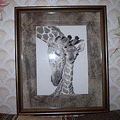 """Картины и панно ручной работы. Ярмарка Мастеров - ручная работа Вышивка """"Африка"""". Handmade."""