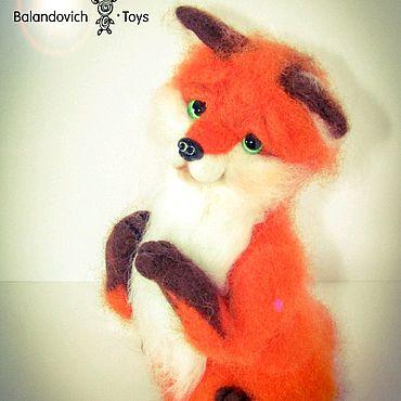Для дома и интерьера. Ярмарка Мастеров - ручная работа Авторская игрушка из шерсти - лисенок. Handmade.