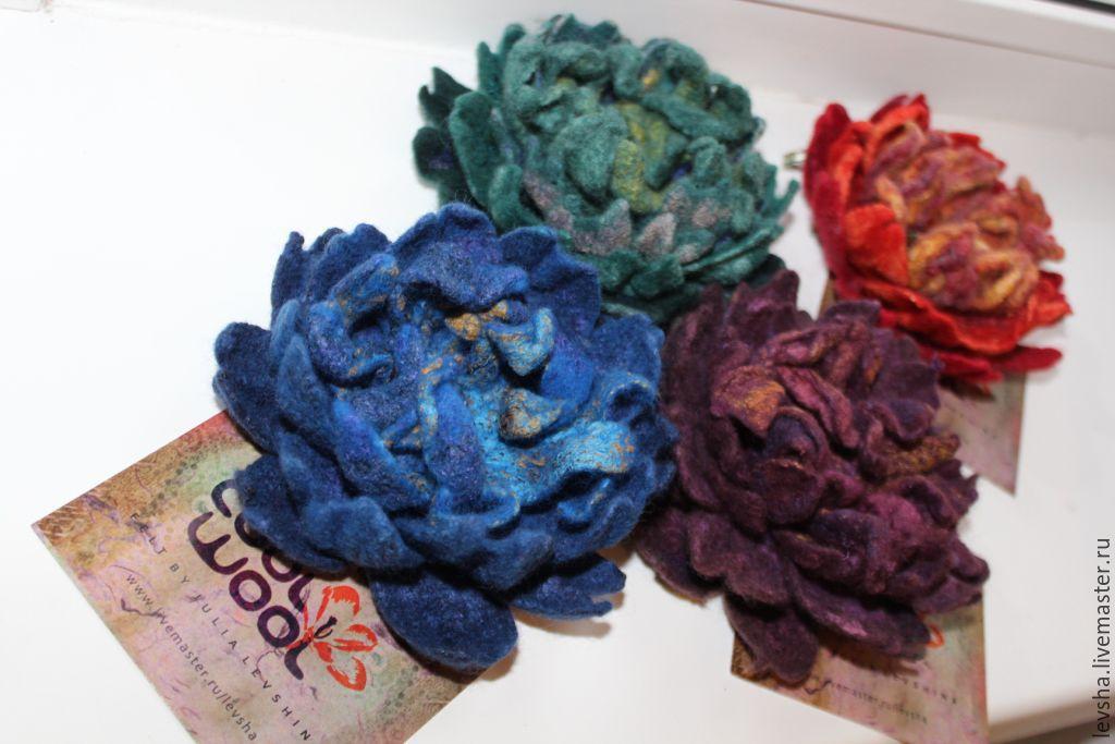 Цветок из шёлка своими руками 696