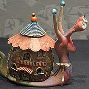 Для дома и интерьера ручной работы. Ярмарка Мастеров - ручная работа Улитка-светильник. Handmade.