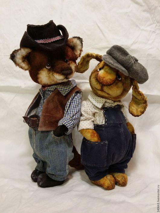 Мишки Тедди ручной работы. Ярмарка Мастеров - ручная работа. Купить Братец  Лис и Братец Кролик. Handmade. Коричневый, рыжий