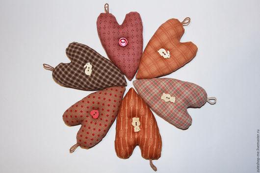Новый год 2017 ручной работы. Ярмарка Мастеров - ручная работа. Купить Сердечко из ткани для пэчворка. Handmade. Пэчворк, интерьерная игрушка