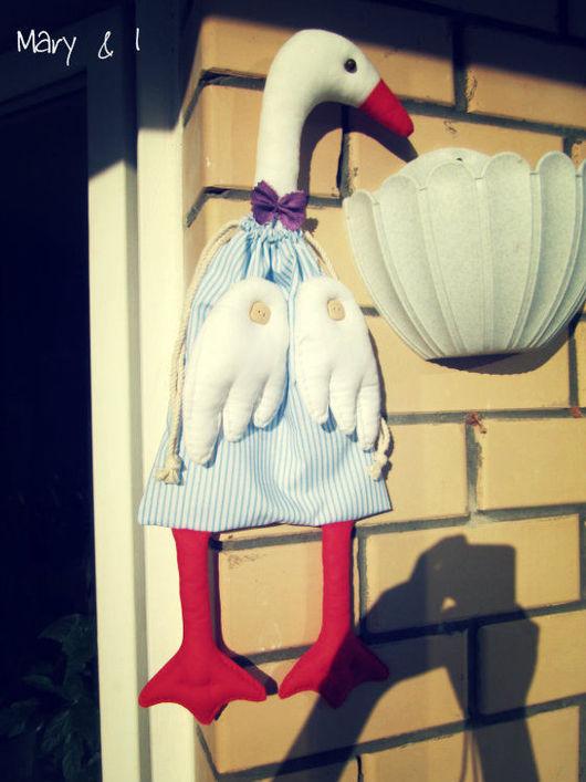 Куклы Тильды ручной работы. Ярмарка Мастеров - ручная работа. Купить Гусь-пакетница. Handmade. Гусь, пакетница, для дома, для кухни