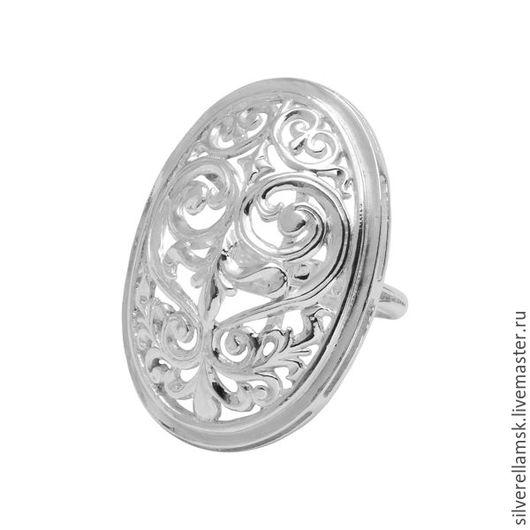 """Кольца ручной работы. Ярмарка Мастеров - ручная работа. Купить Серебряное кольцо """"Узоры-3"""" (серебро 925) USR019. Handmade."""