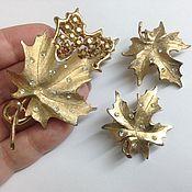 Винтаж ручной работы. Ярмарка Мастеров - ручная работа Комплект от Sarah Coventry - кленовые листья. Handmade.