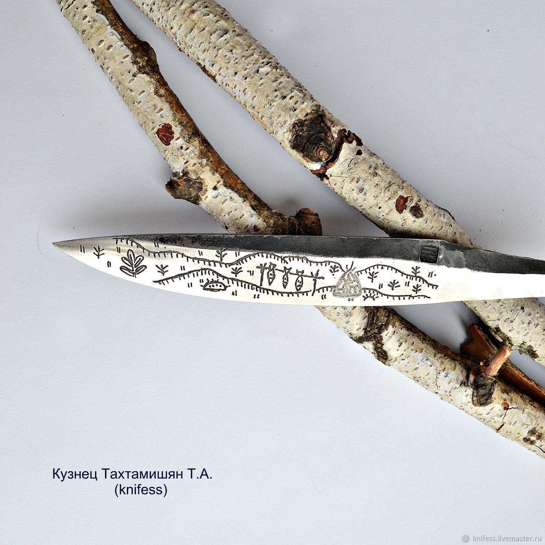 Клинок якутский с рисунком сталь Х12МФ клинок якут кованый охота рыба, Ножи, Новошахтинск,  Фото №1