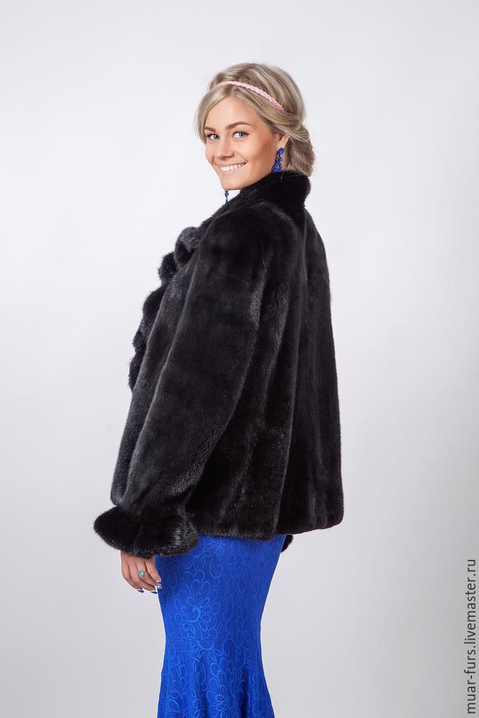 Buy Jacket made of mink. A mink coat. Fur coat of mink on ...