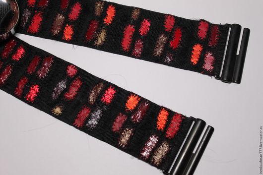 Пояса, ремни ручной работы. Ярмарка Мастеров - ручная работа. Купить Широкий ремень стрейч из натуральной кожи Handmade. Handmade.