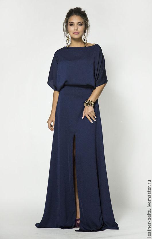 Платья ручной работы. Ярмарка Мастеров - ручная работа. Купить Вечернее платье. Handmade. Тёмно-синий, ателье москва
