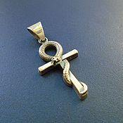 Украшения ручной работы. Ярмарка Мастеров - ручная работа Анкх, коптский крест, египетский ключ - серебряный кулон. Handmade.