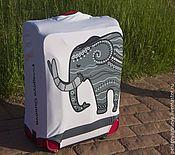 """Case handmade. Livemaster - original item Luggage cover """"Elephant"""". Handmade."""