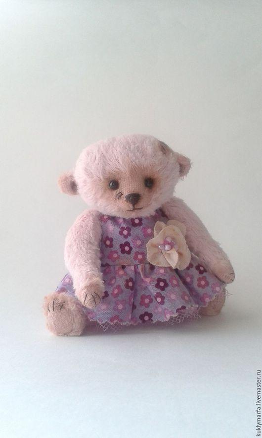Мишки Тедди ручной работы. Ярмарка Мастеров - ручная работа. Купить Ариша. Handmade. Розовый, мишка в одежке, металлический гранулят