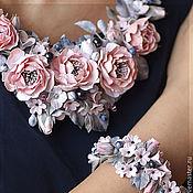 """Украшения ручной работы. Ярмарка Мастеров - ручная работа Комплект """"Розовый туман"""". Handmade."""