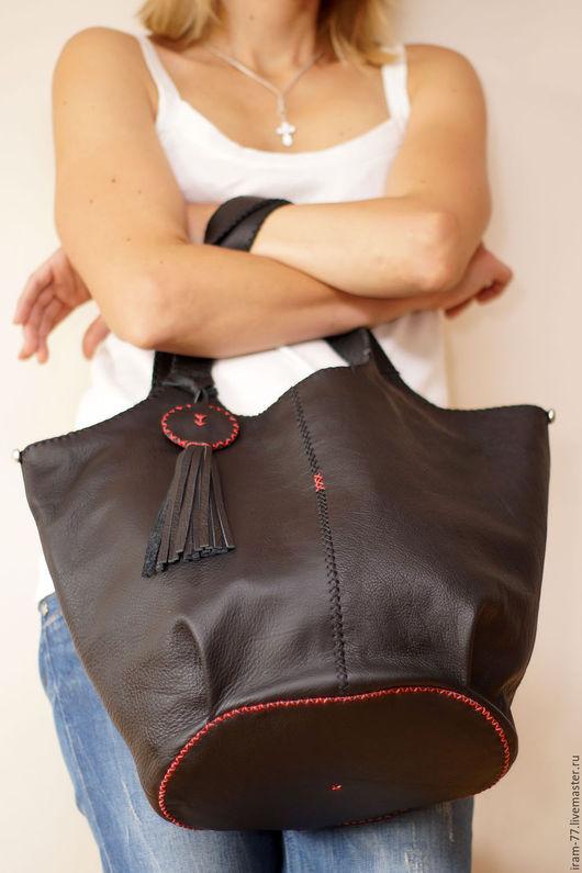 Женские сумки ручной работы. Ярмарка Мастеров - ручная работа. Купить Сумка-торба. Handmade. Черный, сумка через плечо