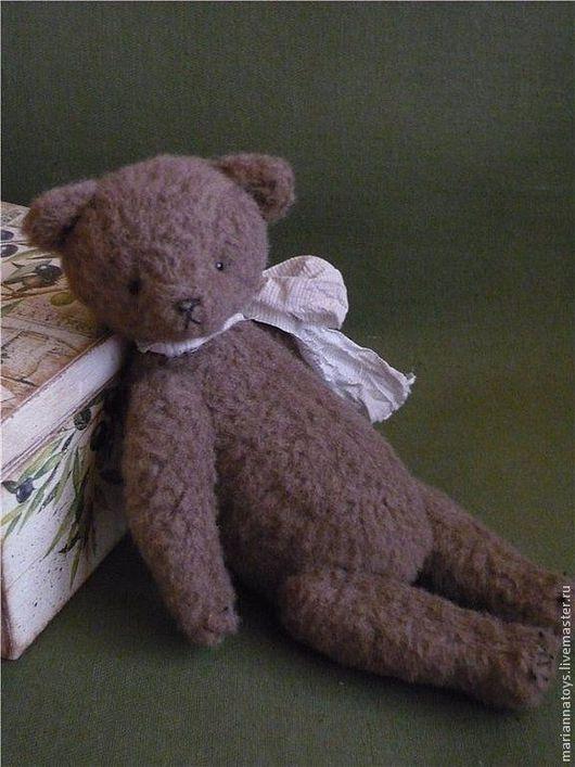 Мишки Тедди ручной работы. Ярмарка Мастеров - ручная работа. Купить медвежонок Шишечка. Handmade. Коричневый, медведь, винтажный стиль