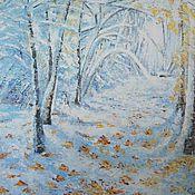 Картины и панно ручной работы. Ярмарка Мастеров - ручная работа Зимний лес, картина, масло 50х60. Handmade.