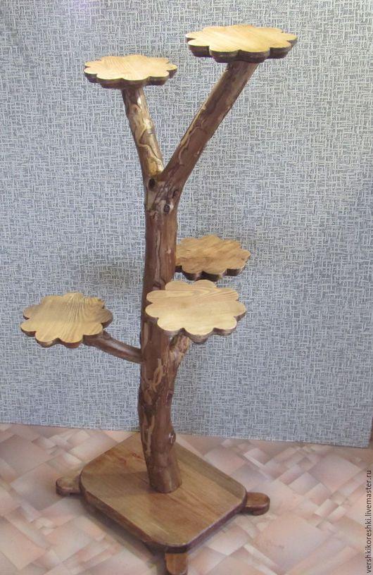 Мебель ручной работы. Ярмарка Мастеров - ручная работа. Купить подставка, подставка для цветов, цветочница. Handmade. Коричневый, цветы, для балкона