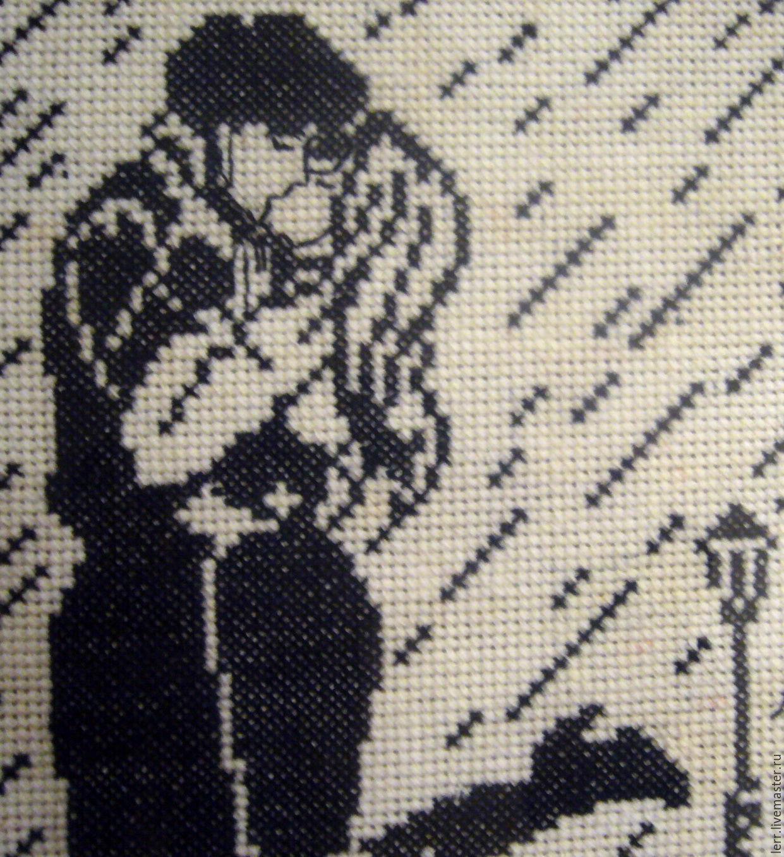 Черно-белые вышивки мужчина+женщина