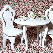 Куклы и игрушки ручной работы. Ярмарка Мастеров - ручная работа Набор стол и стулья для кукол. Handmade.